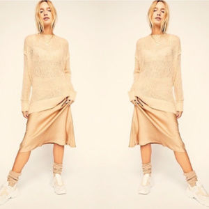 NWOT Free People Transparent Mohair Sweater